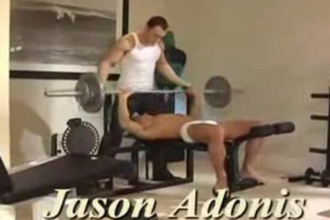 Adonis & Wade_delicious Gym driling_spunkd butt