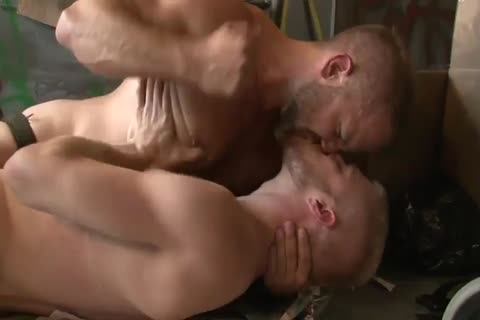 Dirk Caber hammers With A blonde man In A Wareshouse