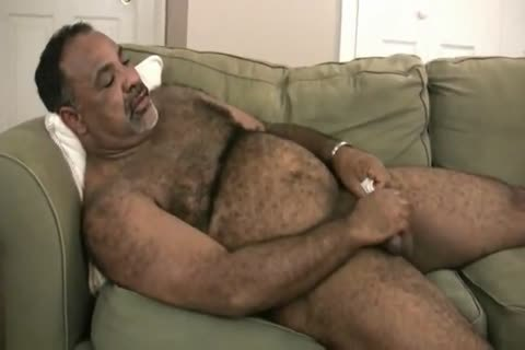 nice Latino daddy chap Stroking His huge cock I would Love To suck That