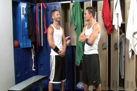 horny gay knobs sucking knobs In Locker Room