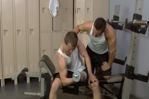 Sporty peckers fuck In The Gym