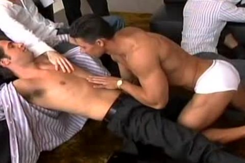 A Striptease That Leads To A humongous homosexual orgy!