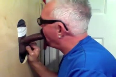 daddy dude Slobs All Over black cock At Glory aperture