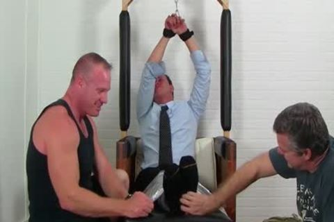 Business man Gordon tied Up And Tickles Hard By allies