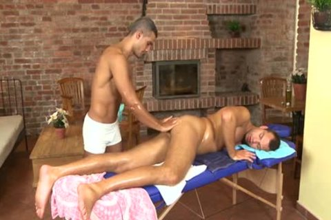 attractive Daddy fellatio With Massage