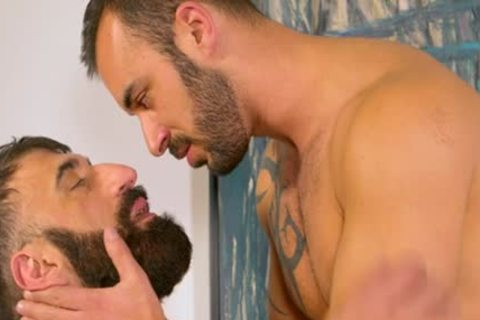 Bearded shaggy Muscle Bear blows Some Tool blows Some Bum For A good Facial