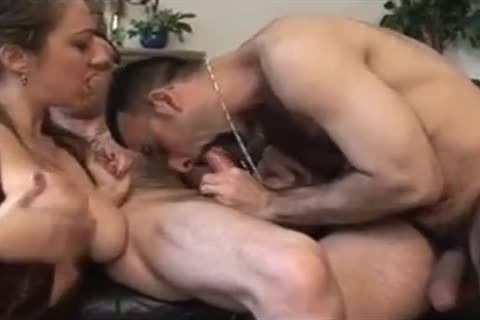 Two French bi-sexual males With Marie Lynne