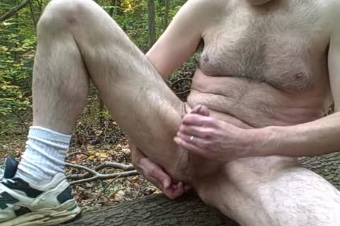 Caught wanking In The Woods