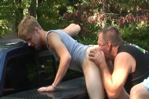 Daddy bonks Dillion raw Outside
