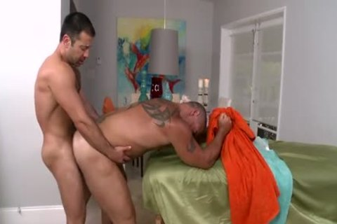 Trace Massages And bonks one greater amount Dilf