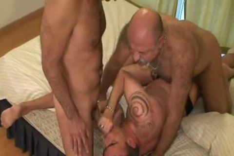 horny Spanish homosexual gangbanged