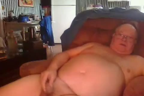 grand-dad engulf And wank On webcam