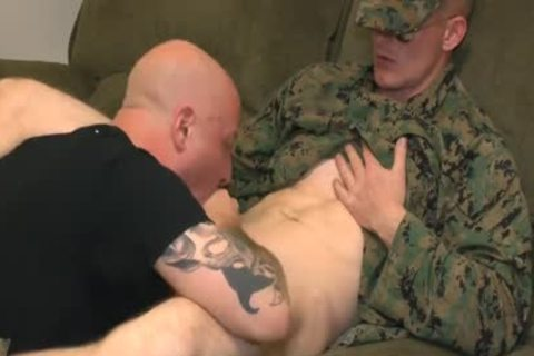 Marine Sgt James oral stimulation job