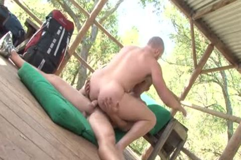 Muscle Bottom Outdoor Sex With cream flow