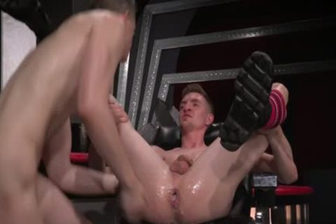 pretty gay Double Fisting And cumshot
