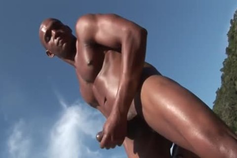 ebony man gets pounded In The wazoo Oin A Beach
