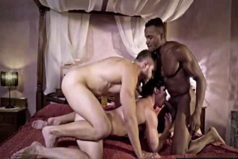 gigantic cock gay threesome And cumshot