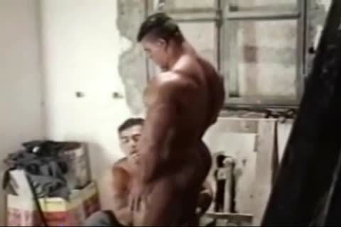 Brasil Bodybuilders large ass nailed By Hunk