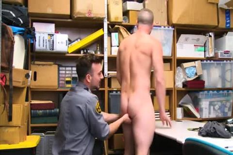 Shoplifting chap Takes ramrod Up His butthole And Down His throat