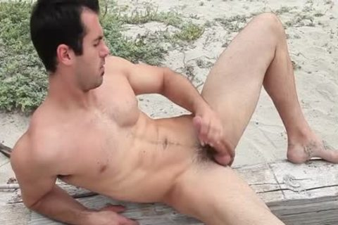 Hung Brock Cooper Jacks His knob At The Beach