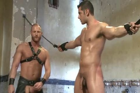 Muscle homosexual fastened And Facial sperm
