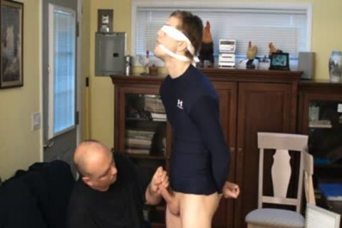 Straight Captive twink, fastened And Gagged, Made To cum