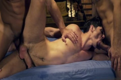 Muscle gay 3some With Facial sperm