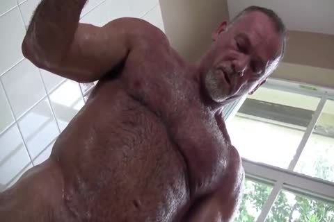 naughty Muscle Daddy Mikey Shower jack off   love juice