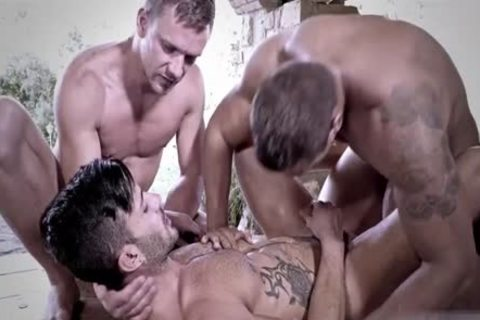 Tattoo homosexual 3some And ejaculation
