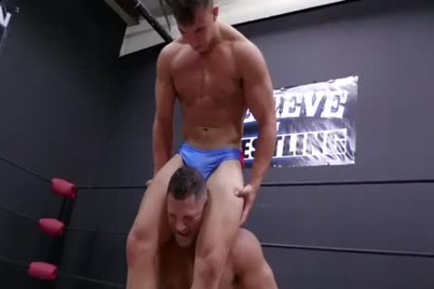 Daddy And Son Wrestling! Daddy Is So wild In Minimal Speddo, not quite A thong