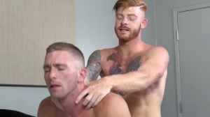Straight chap's prostitute - Bennett Anthony and Scott Riley ass-copulation