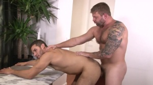 Straight chap homosexual Porn - Colby Jansen and Ricky Decker anal pound