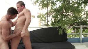 guys In Ibiza - Paddy O'Brian with Tony Gys ass Nail