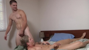 Blocking The Roommate - Jimmy Johnson, Brett Carter ass job