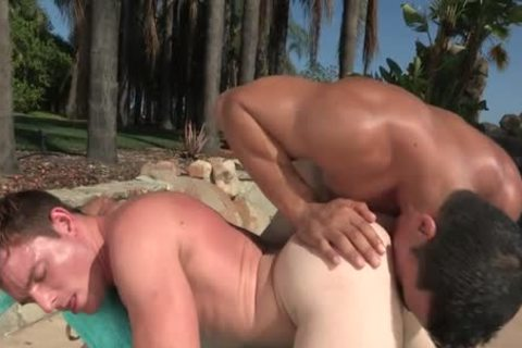 sexy Outdoor Action By The Pool