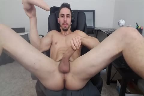 Stretching His gap With A sextoy
