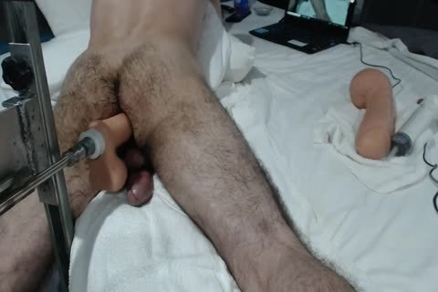 13+ CREAMY butthole ORGASMS+ large SHOOTING LOAD WITH plow MACHINE