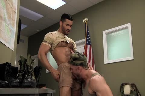 Army males males Polishing Each Other's Boots