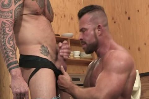 Muscle Beef slamming Vic Rocco And Liam Knox