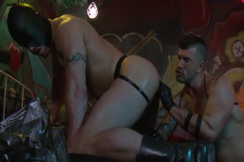 Adam Killian In Latex Forces Jesse Santana To lick His booty