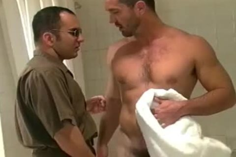 Buff dude gets fine After A Squeaky Clean Shower