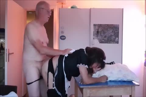 Maid Sissy Cleans abode Sucks dong gets fucked