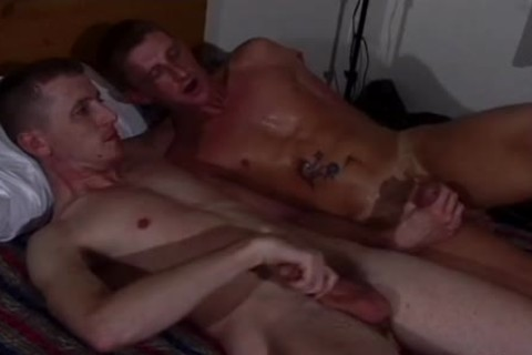 Tanned brunette hair Hunk Enjoys A juicy fuck With A Buddy