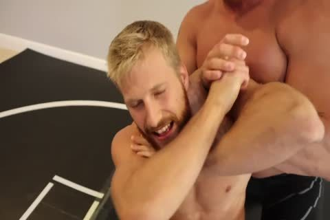 wild Muscle Hunks Wrestling