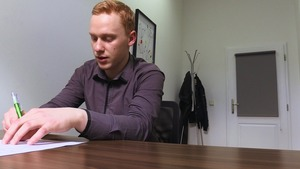 Redheaded man with a bubble booty receives pounded in POV