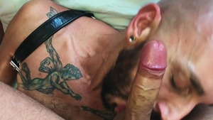 hoe Swallows The Bearded Hunk's Load - American Nail