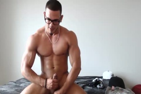 lusty Redbone Jacking His cock And Busting A Nut!