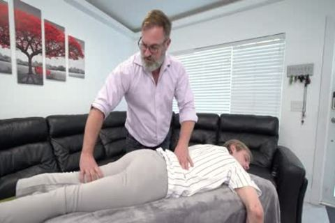 athletic twink Massaged And banged By Stepdad