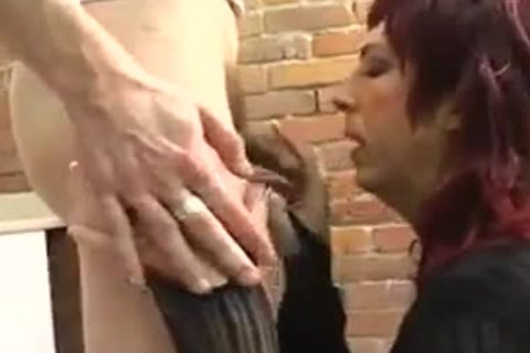 dilettante Roleplay tranny gets plowed By Two Plumbers