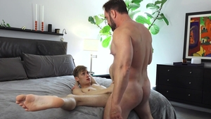 Family Dick - Oliver Star moaning in the shower